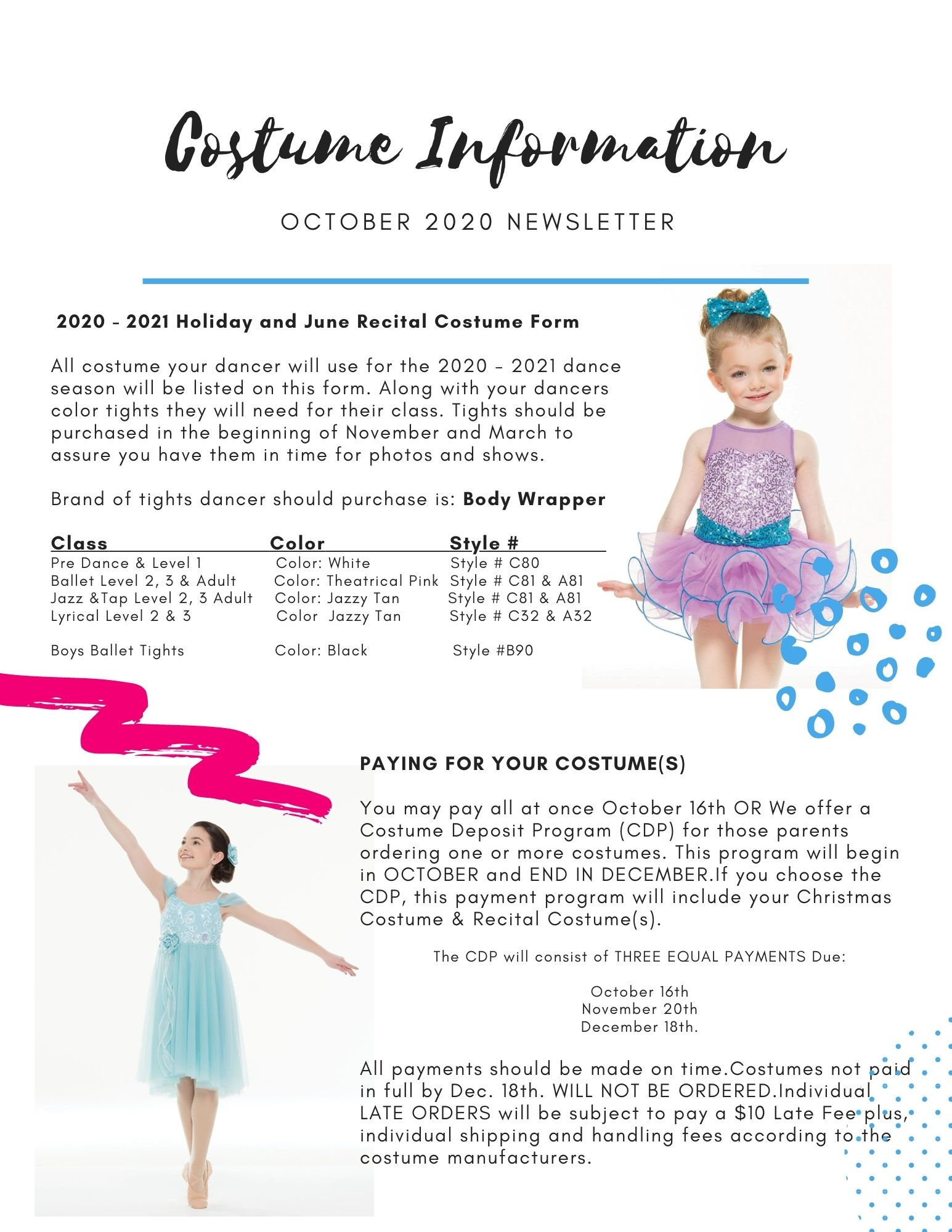 Costume Information